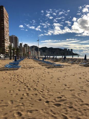 The beach front in Benidorm