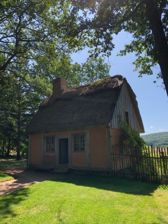 Part of the garden tour: a replica of a typical Acadian home from 1631